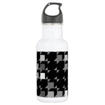 cube repeating pattern (black04) water bottle