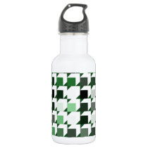 cube repeating pattern (green01) water bottle