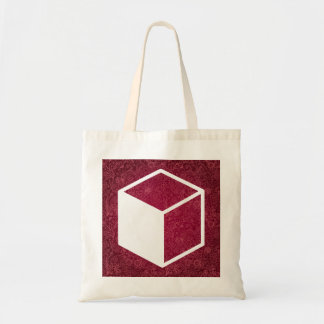 Cube Sideviews Pictogram Budget Tote Bag