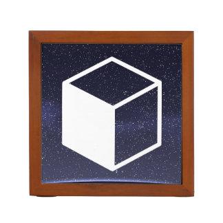 Cube Sideviews Pictogram Desk Organizers