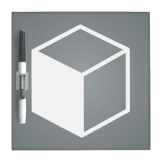Cube Sideviews Pictogram Dry Erase Board