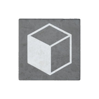Cube Sideviews Pictogram Stone Magnet
