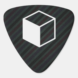 Cube Sideviews Pictogram Guitar Pick