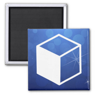 Cube Sideviews Pictogram 2 Inch Square Magnet