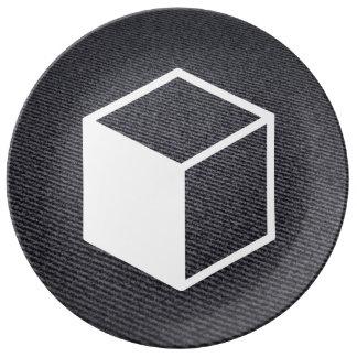 Cube Sideviews Pictogram Porcelain Plates
