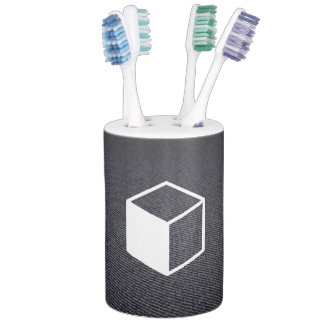 Cube Sideviews Pictogram Toothbrush Holders