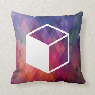 Cube Sideviews Pictogram Throw Pillows