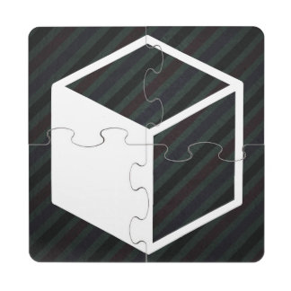 Cube Sideviews Pictogram Puzzle Coaster