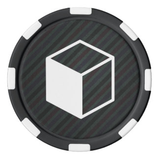 Cube Sideviews Pictogram Set Of Poker Chips