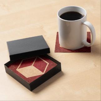 Cube Sideviews Pictogram Beverage Coaster