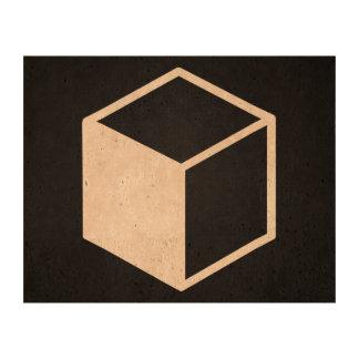 Cube Sideviews Pictogram Photo Cork Paper