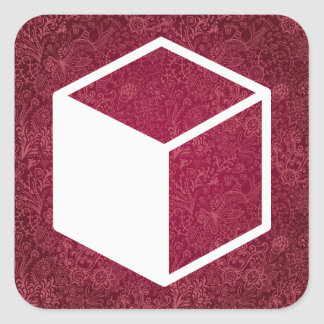 Cube Sideviews Pictogram Square Sticker