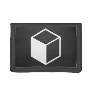 Cube Sideviews Pictogram Tri-fold Wallet