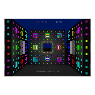 Cube Space (print) Poster