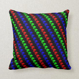 CUBE stripe: RGB Pillow