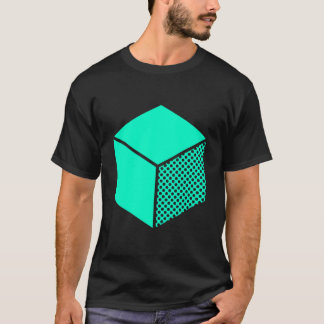 Cube - Turquoise on Dark T-Shirt