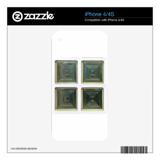 Cubed Glass Window Decals For The iPhone 4