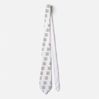 cubed yellow flowers tie