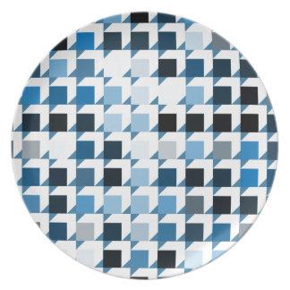 cubes-blue-01 party plates