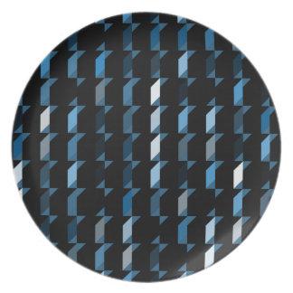 cubes-blue-05 party plate