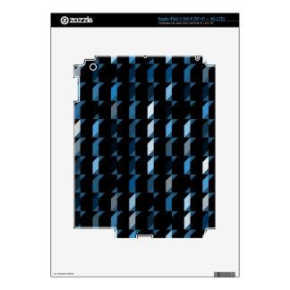 cubes-blue-05 iPad 3 skin