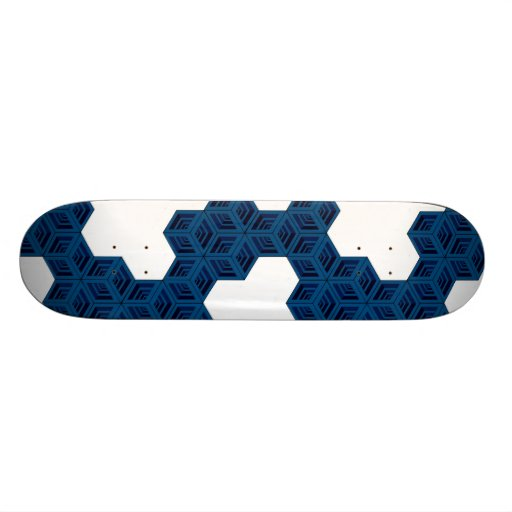 Cubes (Blue/White) Skateboard Deck