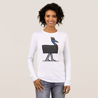 Cubes - Cassowary Long Sleeve T-Shirt