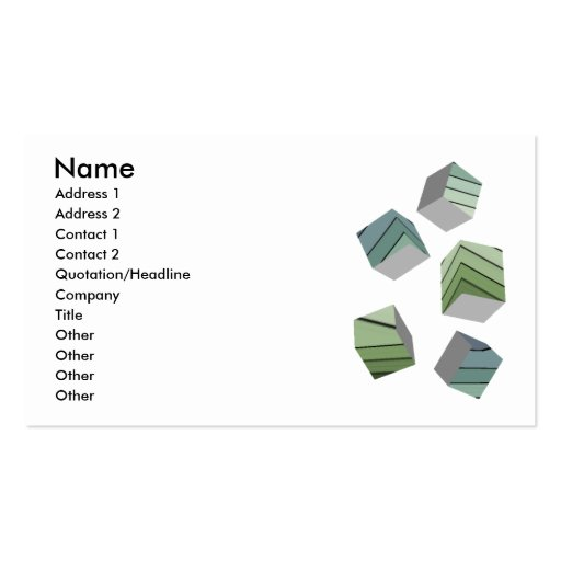 Cubes Double-Sided Standard Business Cards (Pack Of 100)