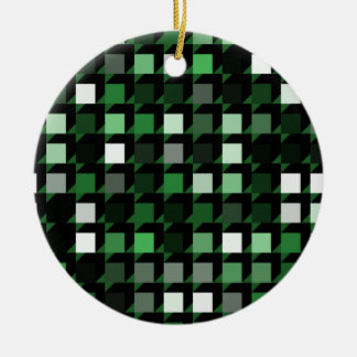 cubes-green-04.pdf Double-Sided ceramic round christmas ornament