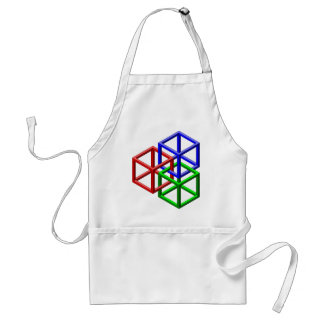 Cubes Impossible Geometry Optical Illusion Adult Apron
