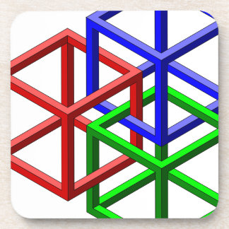 Cubes Impossible Geometry Optical Illusion Coaster