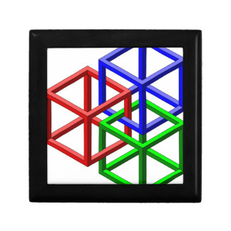 Cubes Impossible Geometry Optical Illusion Jewelry Box