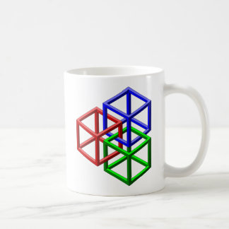 Cubes Impossible Geometry Optical Illusion Mugs