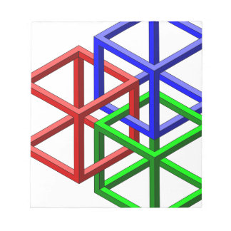 Cubes Impossible Geometry Optical Illusion Notepad