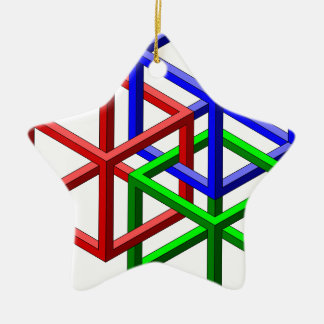 Cubes Impossible Geometry Optical Illusion Ornament
