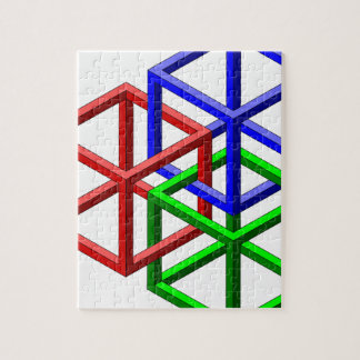 Cubes Impossible Geometry Optical Illusion Puzzle