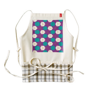 Cubes in honeycomb pattern zazzle HEART apron