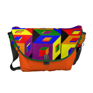 Cubes of Color Messenger Bag