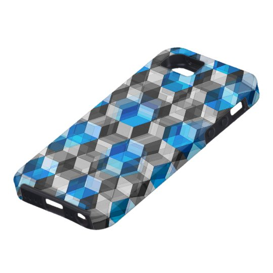 Cubes of Gray And Blue iPhone SE/5/5s Case