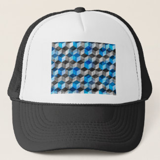 Cubes of Gray And Blue Trucker Hat