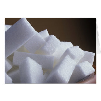 Cubes of white sugar For use in USA only.) Card