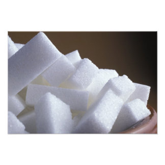 Cubes of white sugar For use in USA only.) Photo Print