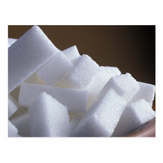 Cubes of white sugar For use in USA only.) Postcard