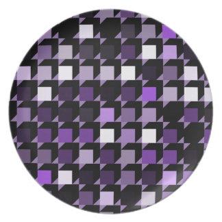 cubes-purple-04 dinner plate