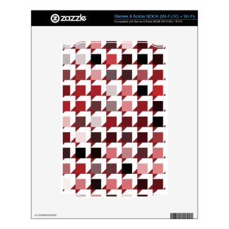 cubes-red-01 NOOK decal