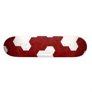 Cubes (Red/White) Skateboard Deck
