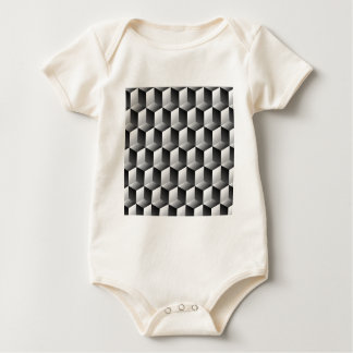 Cubes rows optical illusion baby bodysuit