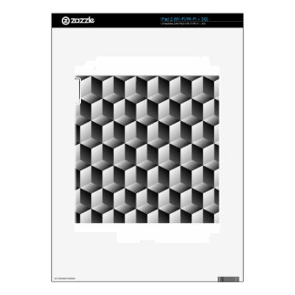 Cubes rows optical illusion iPad 2 decals