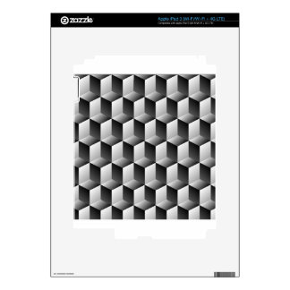 Cubes rows optical illusion skins for iPad 3