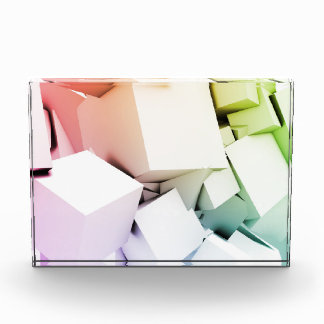Cubes Square Background in 3d as a Abstract Acrylic Award